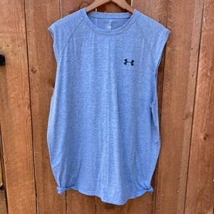 Under Armour Heat Gear Sleeveless Shirt Gray